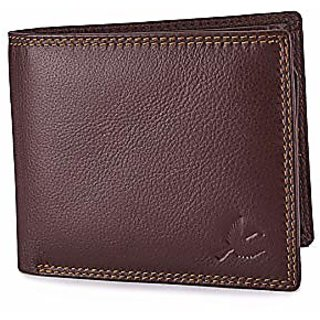 Brown Leather Wallet For Men (Synthetic leather/Rexine)