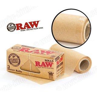 Radise Raw Rolls Classic Rolling Paper King Size 55mm 3 Meter ( 9 Feet )