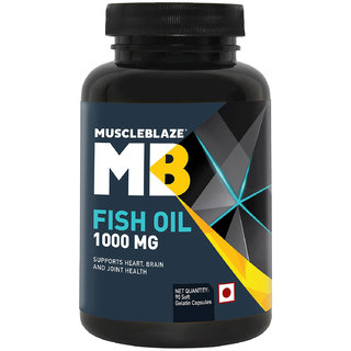 MuscleBlaze Fish Oil (1000 mg) 90 capsules