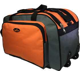 Blumelt Orange Polyester Duffel Bag (2 Wheels)