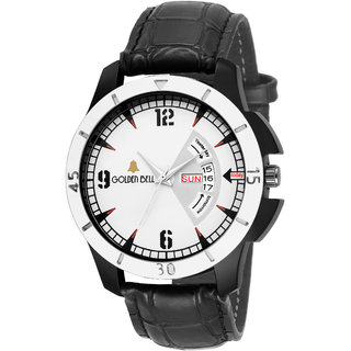 Golden Bell Fierce Day and Date Calender Function Chronograph Display White Dial Men's/Boys Watch - GB-1128