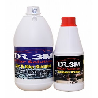 CAR & BIKE SHAMPOO 1ltr. +  DASHBOARD  DRESSER  500mL.