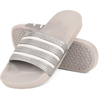 770f80c59 Buy DRUKEN Men s Grey Stripped Slide Slipper Flip Flop Size 6 Online - Get  45% Off