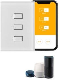 SH5 Broadlink TC2 3 Way Gang Wifi Wall Light Touch Switch Smart Home Automation