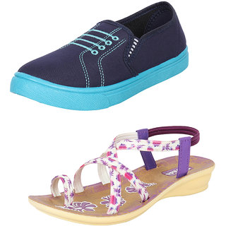 Bersache Women's/Girl's Combo Pack 2 Loafers Shoes