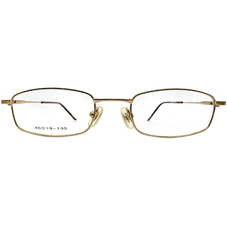 affable full rim rectangle Spectacle frame A382 Golden