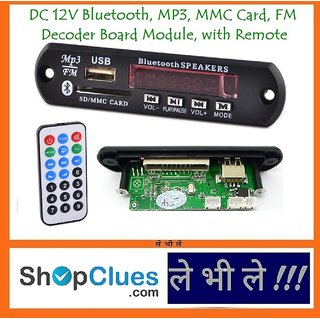 E109 Bluetooth USB MP3 FM SD LineIN Decoder Module Digital Decoding Board 5V 12V