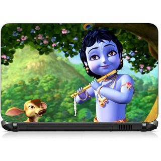 VI Collections LORD KRISHNA IN SMILE pvc Laptop Decal 15.6