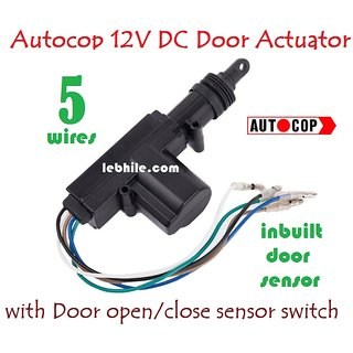 Autocop Universal Car Central locking Door Lock Actuator Gun 5 Wire DC 12V ...