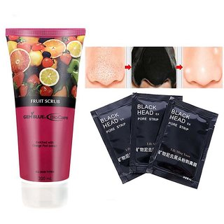 Biocare Fruit Scrub Enriched With Orange Peel Extract + 3 pouch life ming yuan