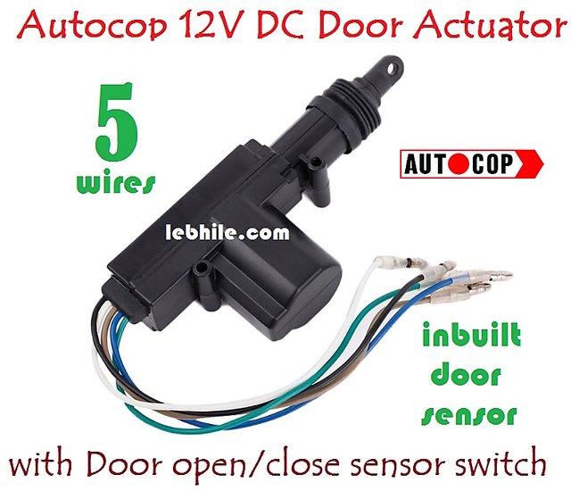 Buy Autocop Universal Car Central Locking Door Lock Actuator Gun 5 Wire Dc 12v Online Get 11 Off