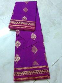 Pink Bengal Silk Cotton Saree Zari Border Chenderi New Saree Double Side Border Uppada Grand Pallu Saree