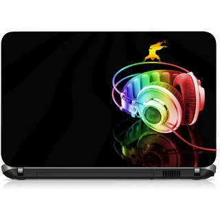 VI Collections MULTI COLOR HEADSET pvc Laptop Decal 15.6