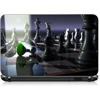 VI Collections CHESS BOARD WITH LIGHT REFLECT pvc Laptop Decal 15.6