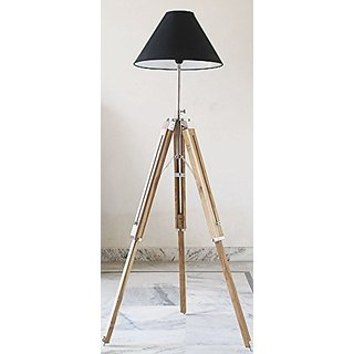 Timber Tripod Floor Lamp Stand Teak Wood Solid Lamp Stand Natural Wood Decor