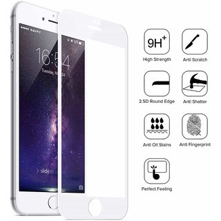 5D Curved Full Cover Tempered Glass Screen Protector For Vivo V5 WHITE