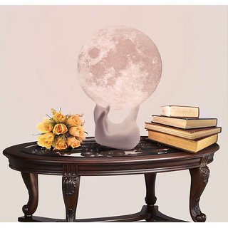 MOON LAMP WITH HAND STAND/WIRELESS/14CM/TRICOLOR