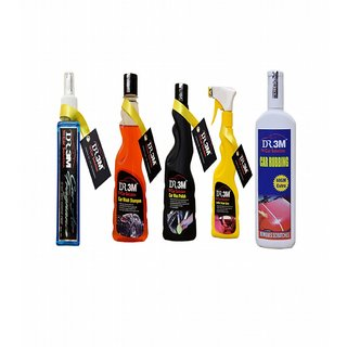CAR AIR FRAGNANCE FLORAL 200mL.+CAR WASH SHAMPOO 250ml.+LEATHER SPRAY POLISH 250ml.+ CAR WAX POLISH 250ml.+CAR RUBBING 200gm(60gm EXTRA).