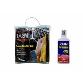 CAR RUBBING 100gm.(30gm EXTRA)+MICROFIBER CLOTH (SKY BLUE).