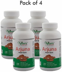Naturz Ayurveda Arjuna 120 capsules - Pack of 4