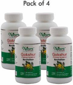 Naturz Ayurveda Gokshur 120 capsules - Pack of 4