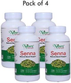 Naturz Ayurveda Senna 120 capsules - Pack of 4