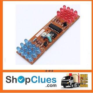 DIY NE555 CD4017 Electronic Red Blue Flasher Detonation Flashing Lights