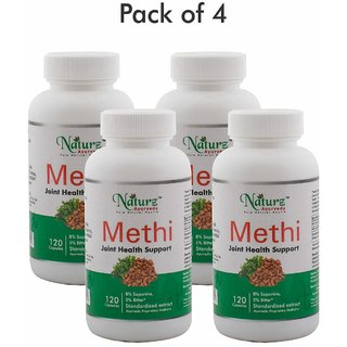 Naturz Ayurveda Methi 120 capsules - Pack of 4