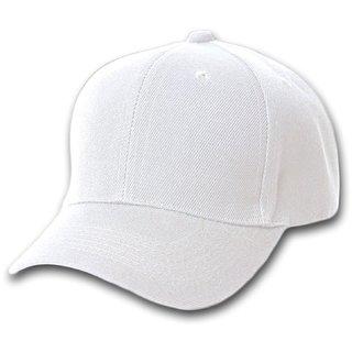 Buy FAB classic plain white solid white cap  bca55a1077b