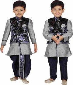 AJ Dezines Kids Angrakha Dhoti Pant Set for Boys