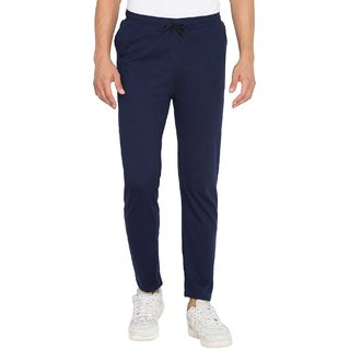 Cliths Men's Navy Blue Solid 100% Cotton Trackpant