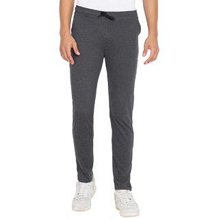 Cliths Dark Grey Slim Fit Cotton Basic Trackpant for Men