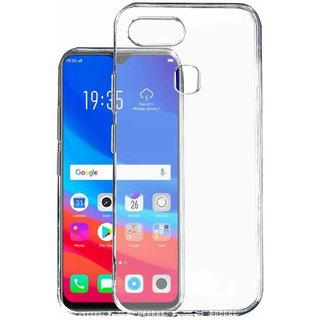 KOVERZ Soft Silicone TPU Jelly Crystal Clear Soft Back Case Cover For OPPO  F9 Pro -Transparent