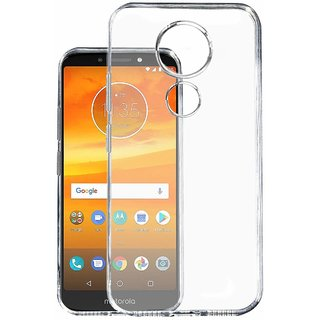 pretty nice a13ec 5d606 KOVERZ oft Silicone TPU Jelly Crystal Clear Soft Back Case Cover For MOTO  E5 PLUS Transparent