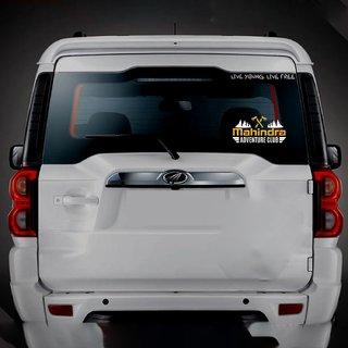 CarMetics Mahindra Adventure Club sticker for Mahindra THAR White Gold 2Pcs  car adventure stickers decal Mahindra exte
