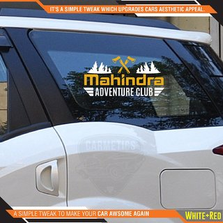 CarMetics Mahindra Adventure Club sticker for Mahindra KUV 100 White Gold 2Pcs  car adventure stickers decal Mahindra e