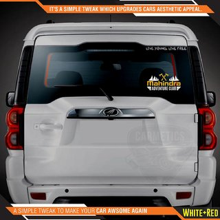 CarMetics Mahindra Adventure Club sticker for Mahindra Xylo White Gold 2Pcs  car adventure stickers decal Mahindra exte