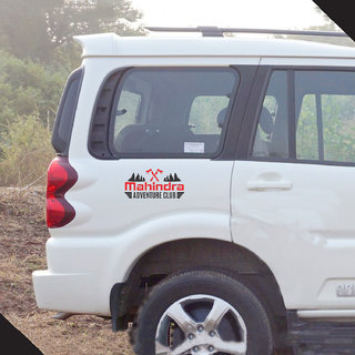 Pack ofCarMetics Mahindra Adventure Club Sticker For Mahindra