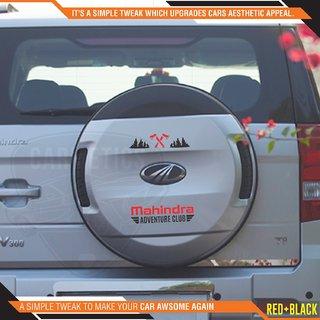 CarMetics Mahindra Adventure Club sticker for Mahindra Bolero Black Red 2Pcs  car adventure stickers decal Mahindra ext