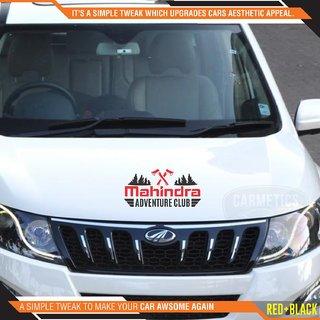 CarMetics Mahindra Adventure Club sticker for Mahindra Xylo Black Red 2Pcs  car adventure stickers decal Mahindra exter