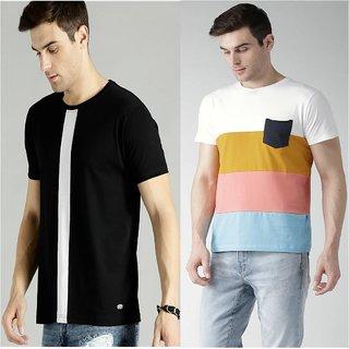 29K Men's Multicolor Round Neck T-shirt