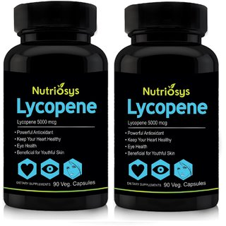 Nutriosys Lycopene with Multivitamins - 5000mcg- Pack of 2