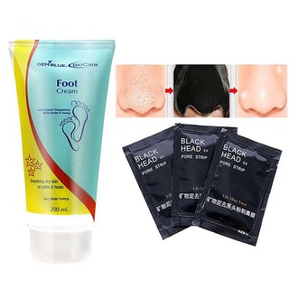 Biocare Foot Cream With Organic Peppermint Shea Butter And Honey + 3 pouch charcoal mask
