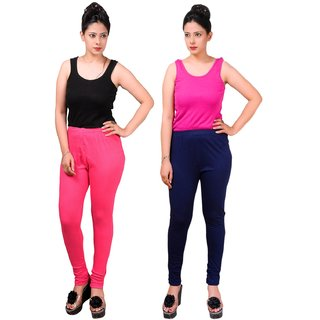 MAA-AADYA Set of 2 pcs Cotton leggings for Women
