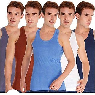 PACK OF 5 MULTICOLOUR VEST FOR MEN COMBO PACK OF 5