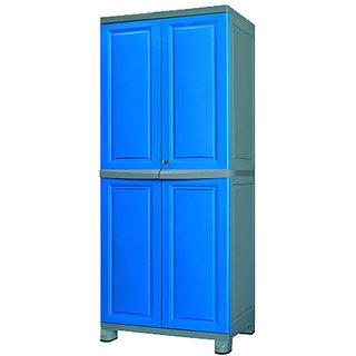 Nilkamal Freedom Big Cabinet FB1 - Deep Blue And Grey