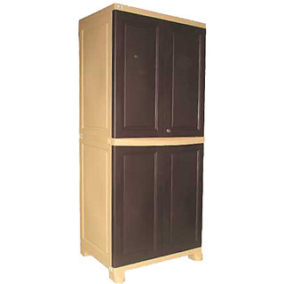 Nilkamal Freedom Big Cabinet FB1 - Weather Brown and Biscuit