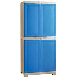 Nilkamal Freedom Mini Medium Multipurpose Plastic Cabinet (Deep Blue  Grey)