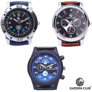 EASTERN CLUB NEW COLLECTION WATCH COMBO PACK OF 3 (EC-161821)