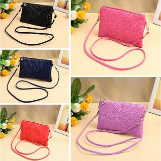 New Fashion Women Small Shoulder Bag PU Leather Crocodile Pattern Zipper Summer Crossbody Bag PurseB0246PU purple